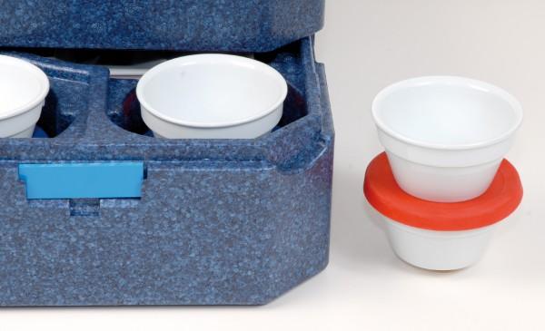 Abbildung zeigt u. a. Beilagenschale, Thermobox und Silikondeckel sind im Lieferumfang nicht enthalten